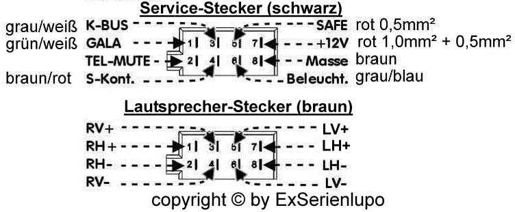 Kabelbaum f. Radio tauschen - Elektrik und Elektronik - VW Lupo ...